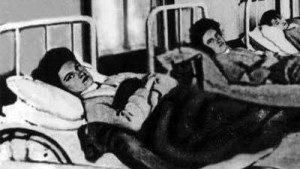 mary mallon in hospital bed