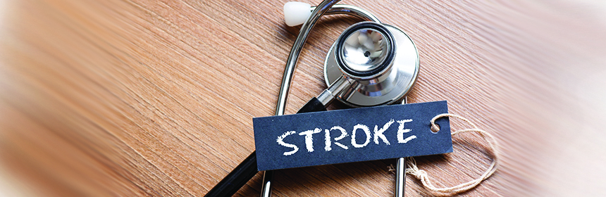 stethoscope with stroke sign