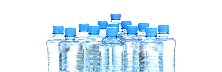 water bottles with white background