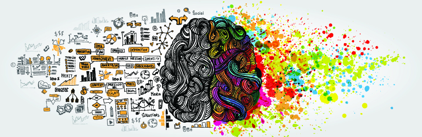 sketch of brain creative and logical